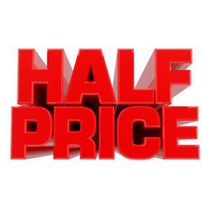 1/2 PRICE SHIRTS!
